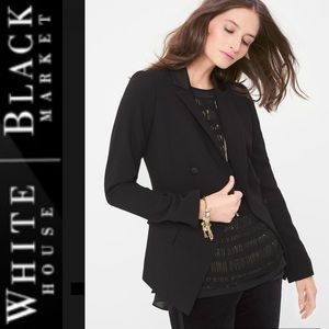 NWT WHBM Double Breasted Trophy Jacket, Black